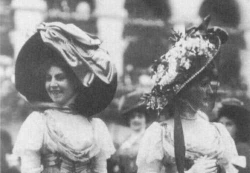 Typical edwardian hats.
