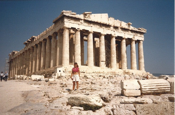 Liza of BDV at the Parthenon in 1986.