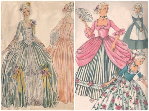 Vintage Marie Antoinette Sewing Patterns