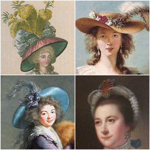 18th Century Hat Styles - combo #3