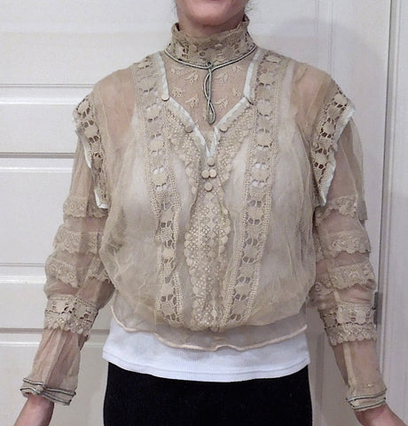 Antique blouse as purchased.
