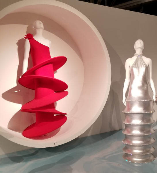 Some of the bouncy circles dresses by Pierre Cardin at SCADFash