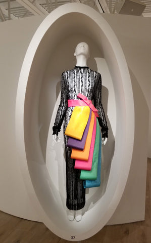 1977 Lace and Coloful Flaps Dress by Pierre Cardin at SCADFash