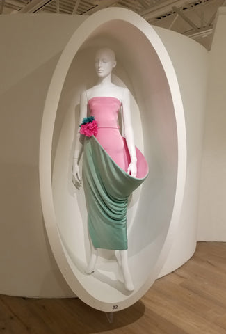 PInk and green silk gown by Pierre Cardin at SCADFash