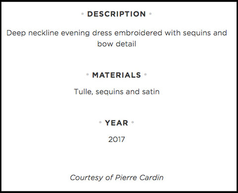 Online Description from Pierre Cardin