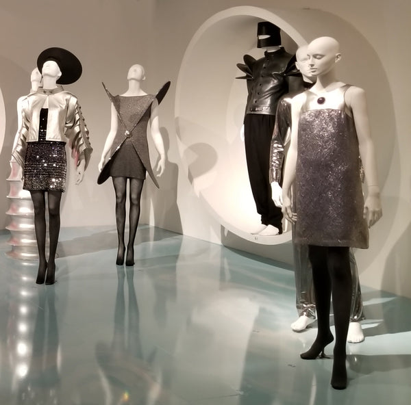 Metallic outfits by Pierre Cardin at SCADFash