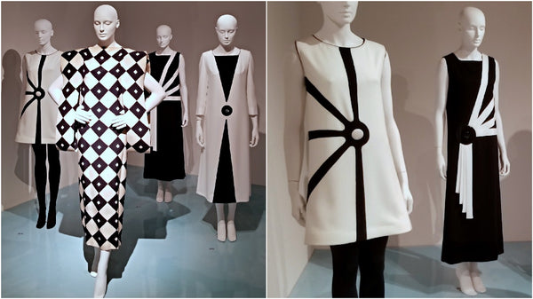B&W dresses by Pierre Cardin at SCADFash