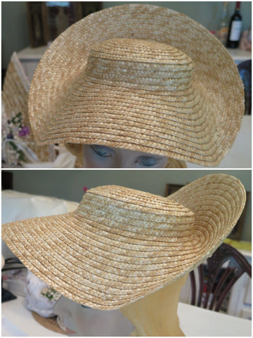 Bergère hat form