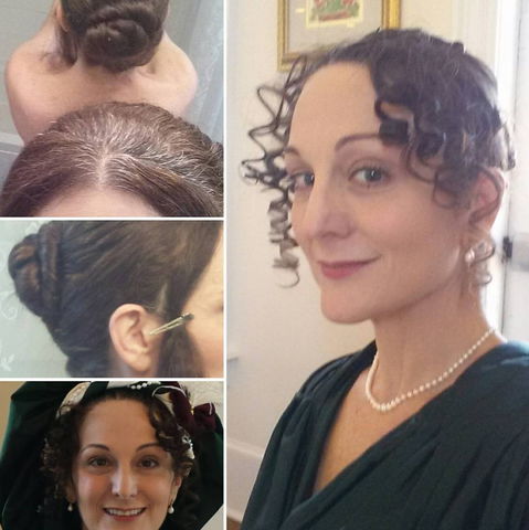 Regency Hair Tutorial photo collage