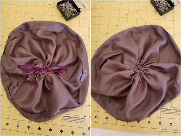 Inner poof before insertion into crown.