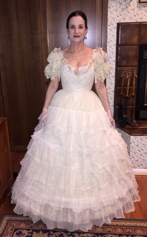 Customer Laurie in her gown from Better Dresses Vintage