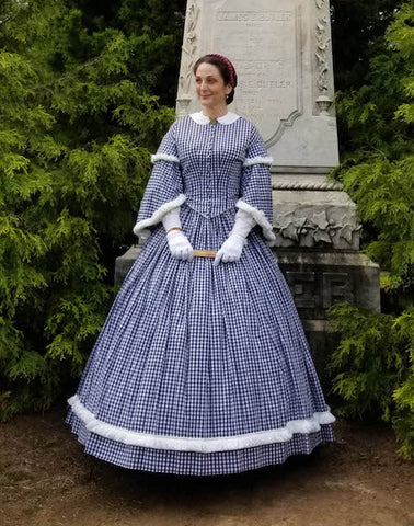 Liza in a Mid-Victorian Day Dress