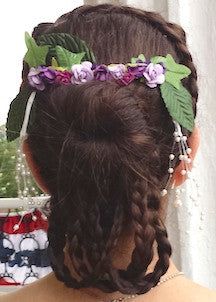 mid-Victorian ball hairstyle featuring braids