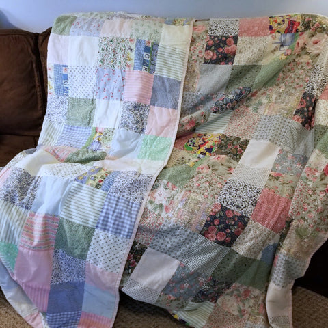 patchwork quilt by mom and me