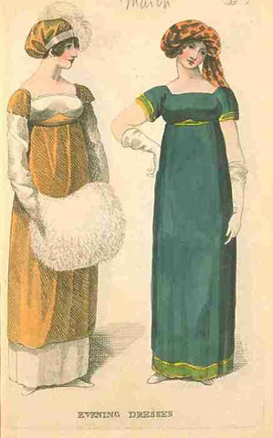Regency fashion plate showing a tam