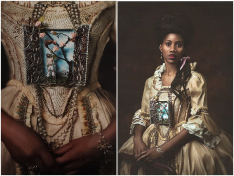 """Rest in Peace"" and ""Madame Leroy"" prints by Fabiola Jean-Louis"