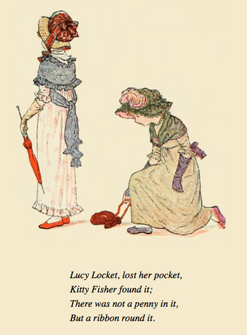 Kate Greenaway illustration of Lucy Locket