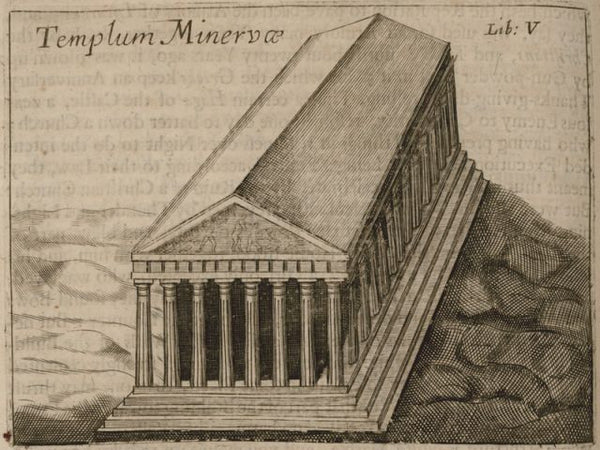 Temple of Minerva, aka The Parthenon, in1682