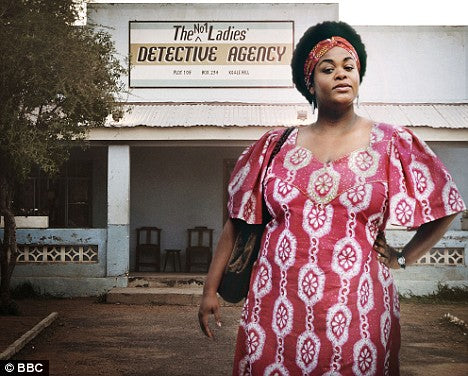 Jill Scott as Mma Ramotswe, costumes by Jo Katsaras