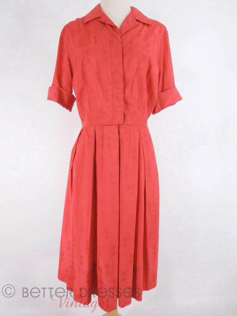 50s/60s Red Shirtwaist at Better Dresses Vintage