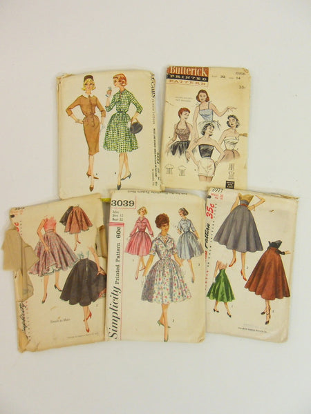 50s/60s/70s Lot of 14 Vintage Sewing Patterns