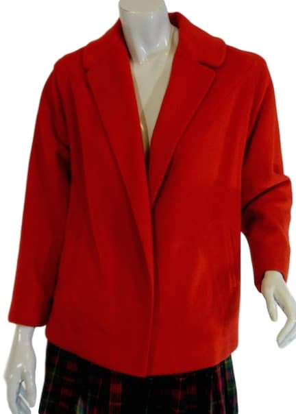 50s Red Cashmere Short Coat