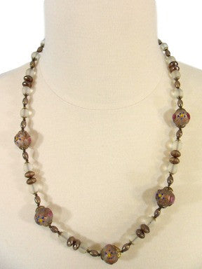 50s Czech Glass Bead Necklace