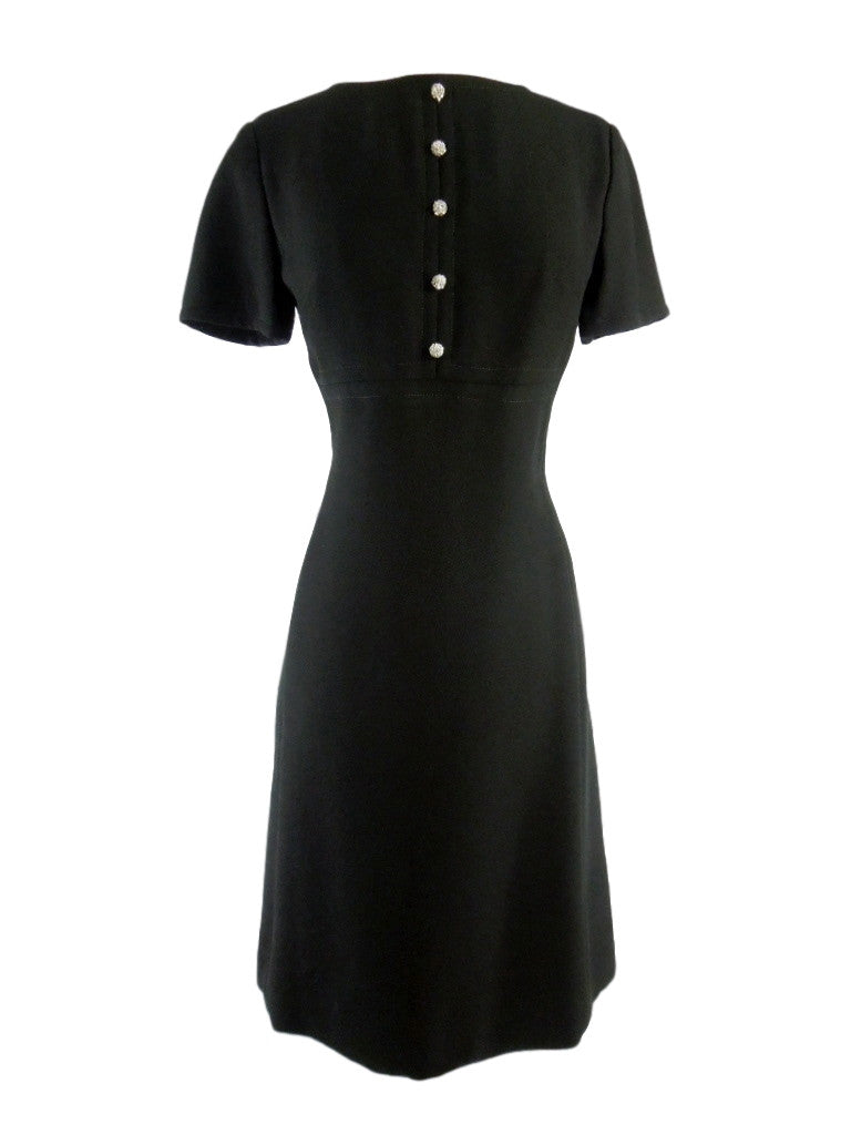 60s Mod Black Cocktail Dress