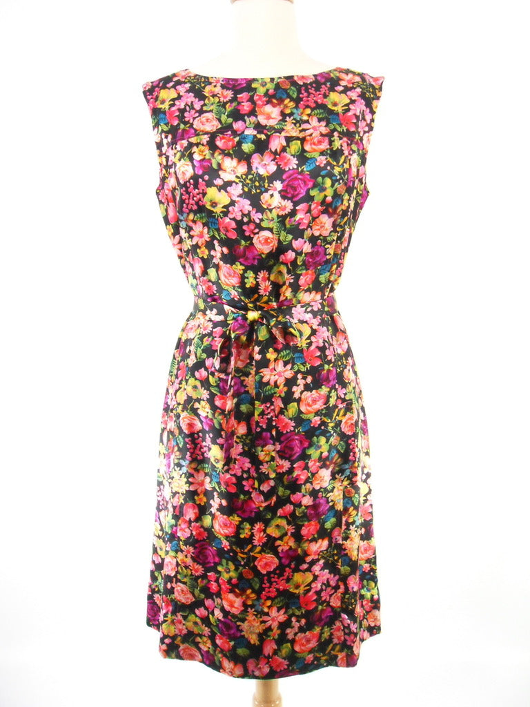 Sir James bright floral silk shift dress. Overview. BDV