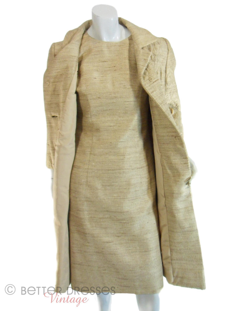 60s Gold Dress & Coat Set
