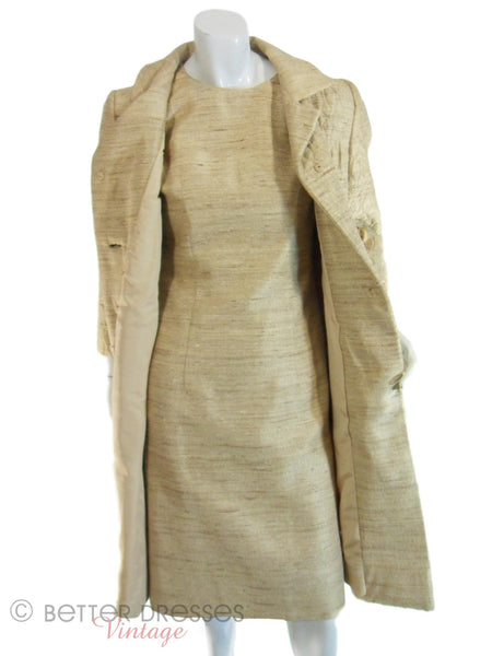 Vintage 60s Gold Dress Amp Coat Set Jackie O Style By Dan