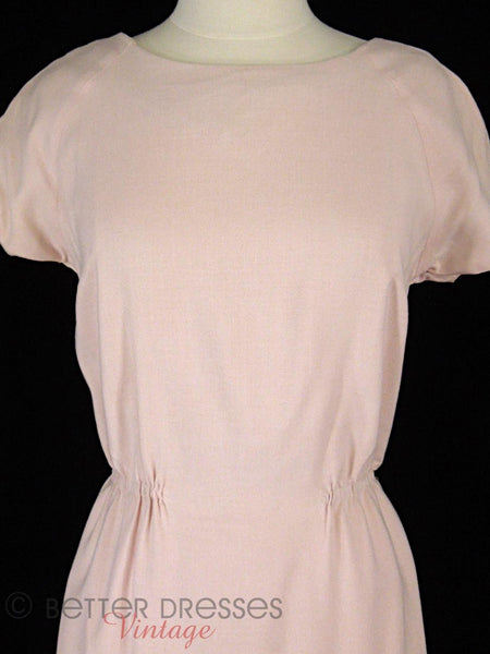 50s Pink Sheath - front view close