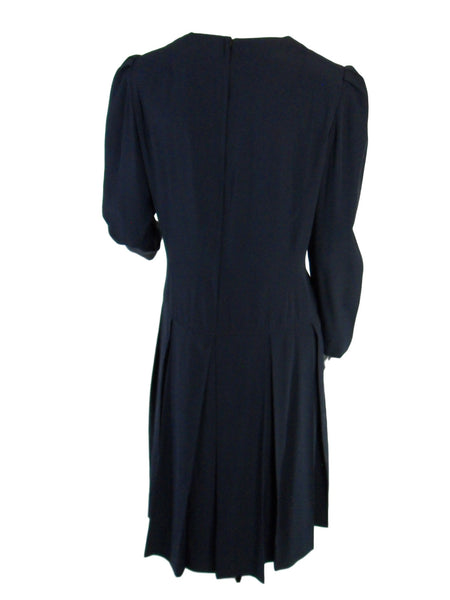 50s/60s Navy Blue Dress - back