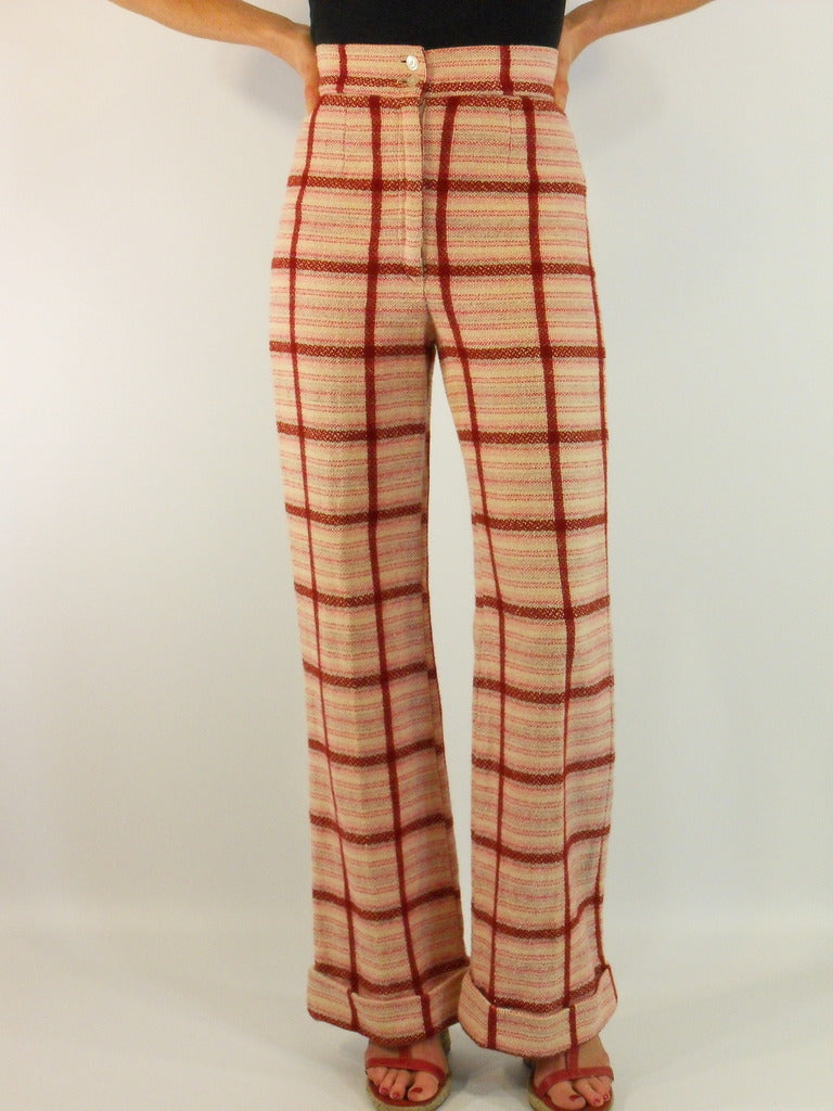 "70s Plaid ""Everything Is Jake"" Trousers - sm"