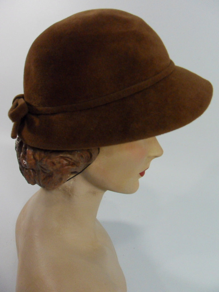 50s Abercrombie & Fitch Brown Fur Felt Hat
