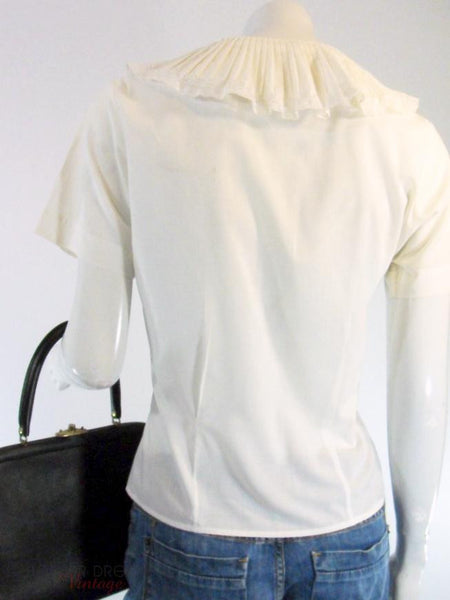 50s Portrait Collar Blouse - back