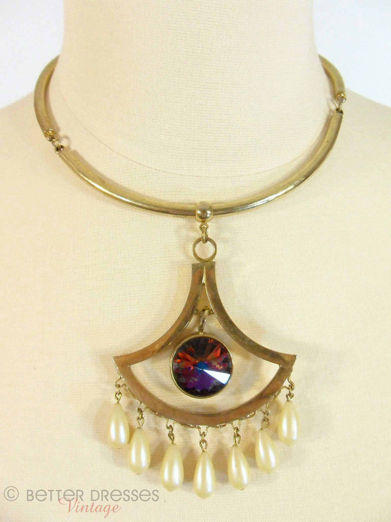 50s Whiting&Davis Pendant Necklace