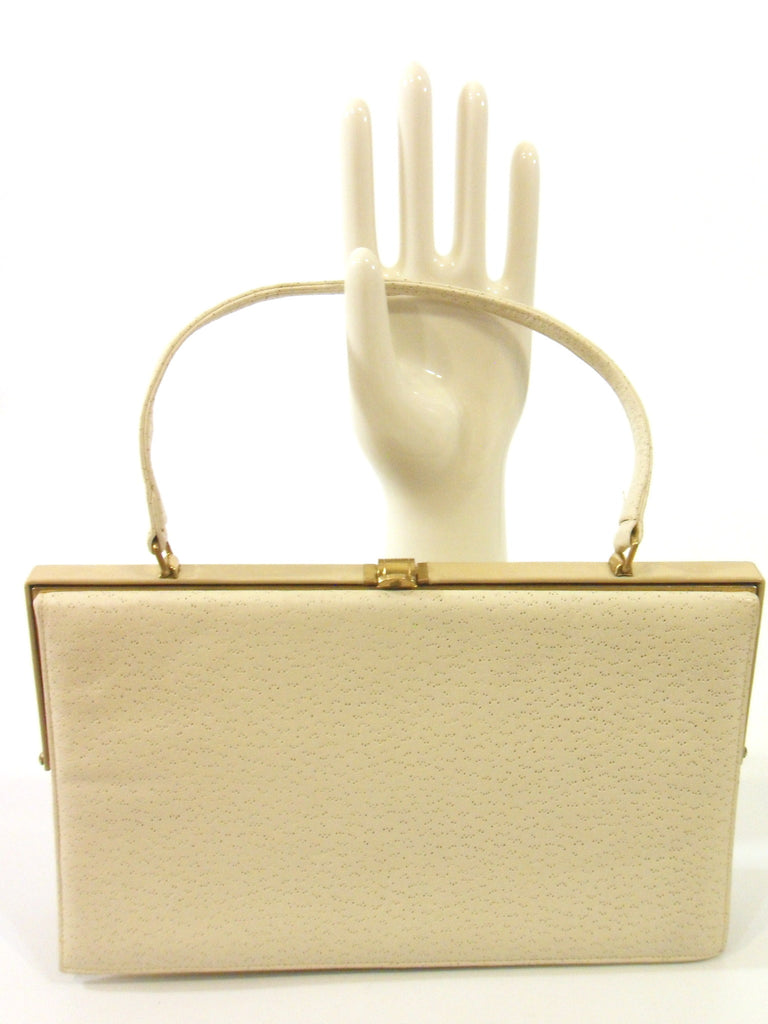 50s cream frame purse - front