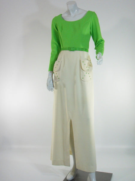 70s Lime Green Mr. Bob Maxi - full view