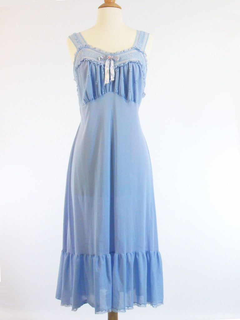 50s Blue Negligee - front