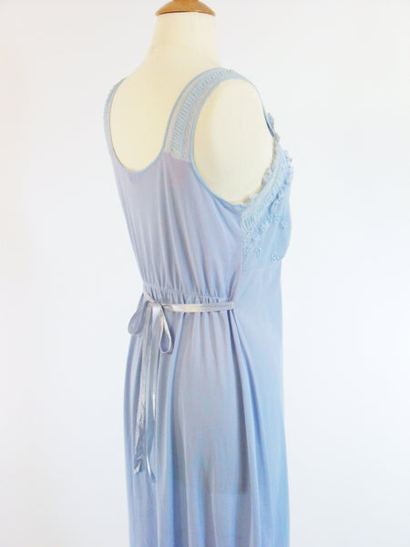 50s Blue Negligee - back