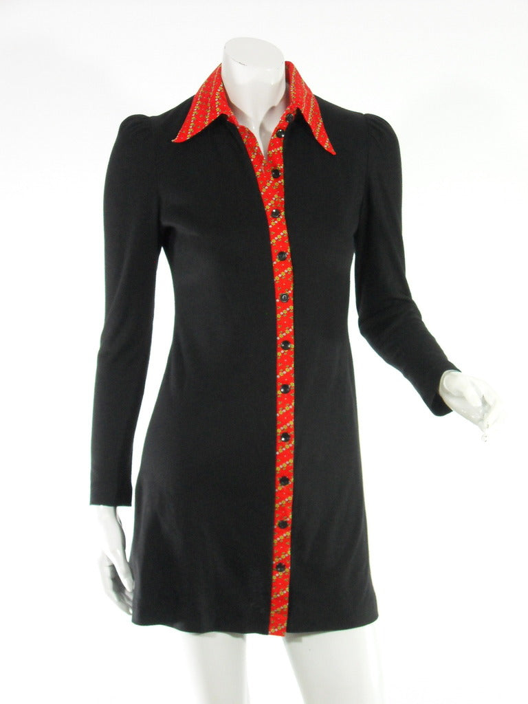 60s Black Mini Dress Young Innocent by Arpeja