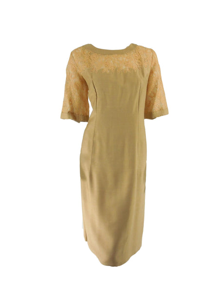 60s Golden Wiggle Dress