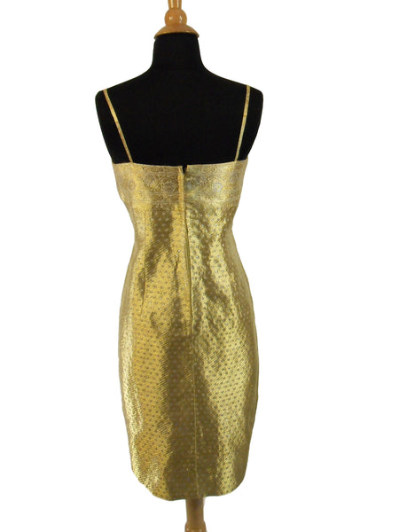 50s Adele Simpson Gold Shift - back view
