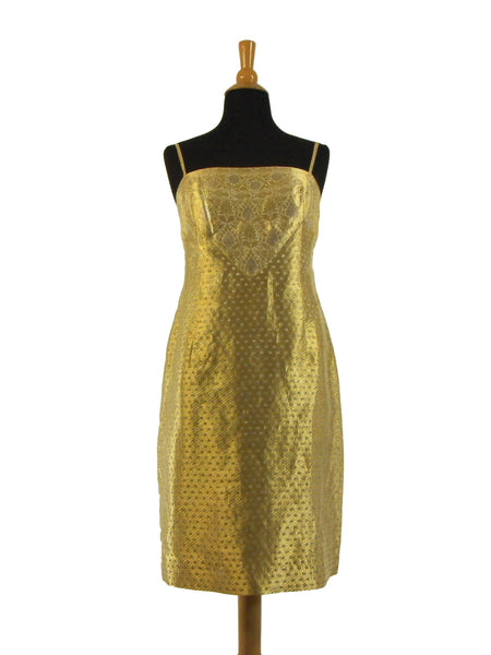 50s Gold Shift by Adele Simpson - loose
