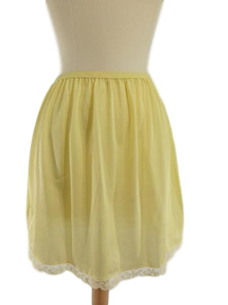 60s or 70s Native brand Yellow Half Slip - NOS