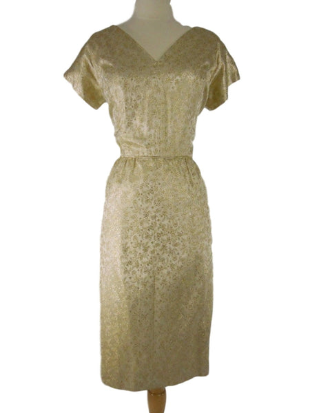 60s Gold Cocktail Dress - med