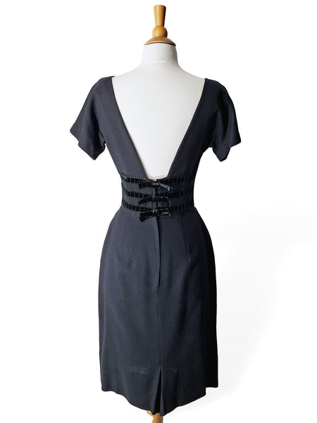 50s Low Back Cocktail Dress