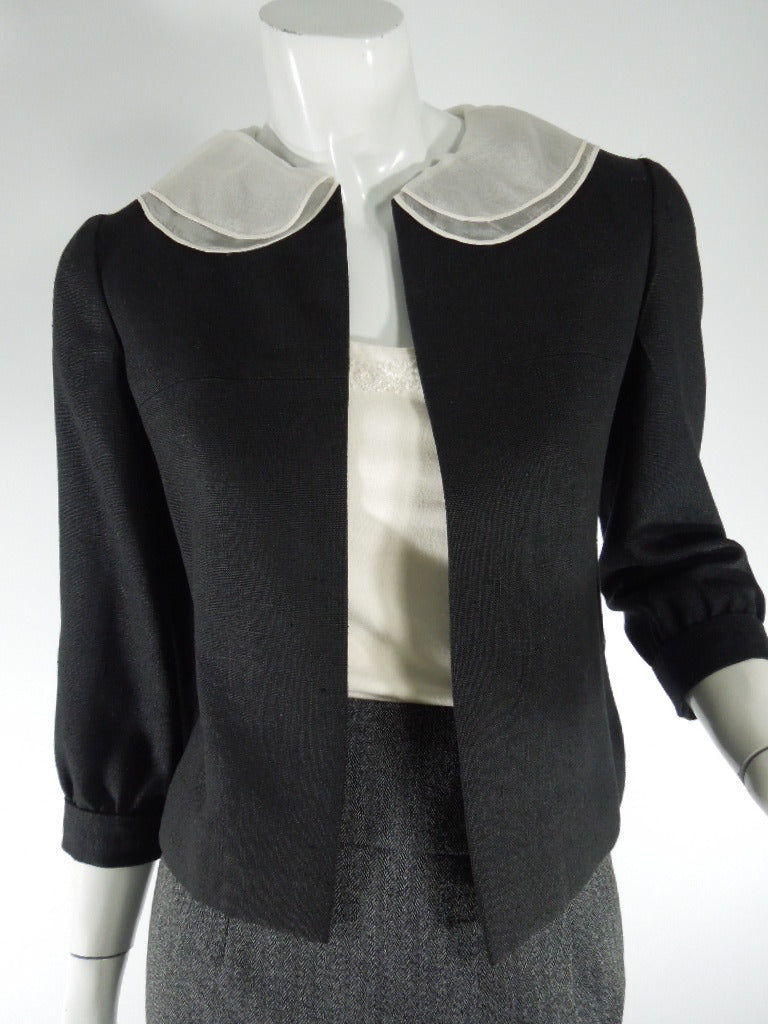 60s Black Portrait Collar Jacket - sm