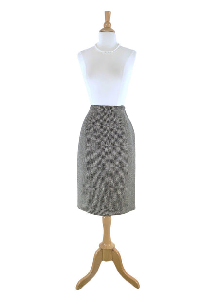 50s Slim Skirt in Black and White - sm